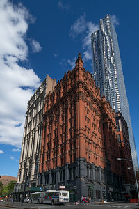 Beekman St old and new buildings