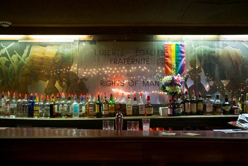 Liberte Egalite Fraternite Rights of Man deco bar