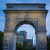 Washington Square Arch at twilight I