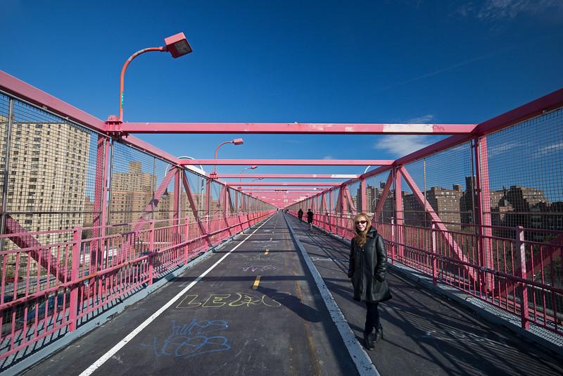 Rebecca on the Williamsburg Bridge