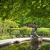 statue & reflecting pool