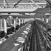 subway train on Williamsburg Bridge