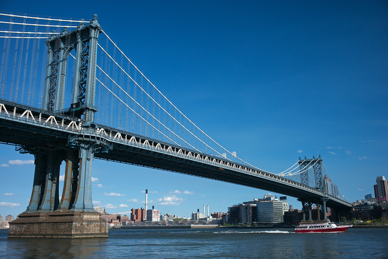 Manhattan Bridge with New York Water Your boat