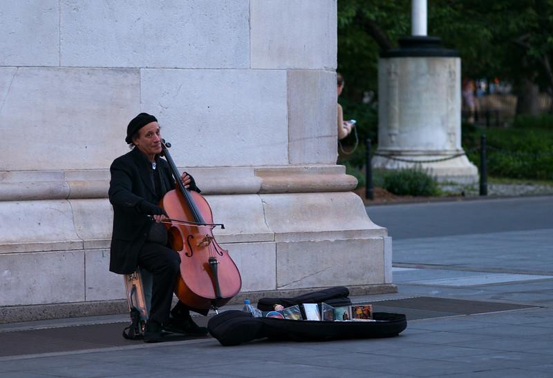 cellist in Washington Square