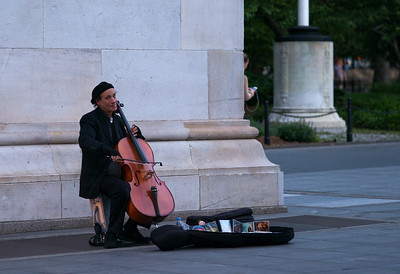 cellist in Washington Square