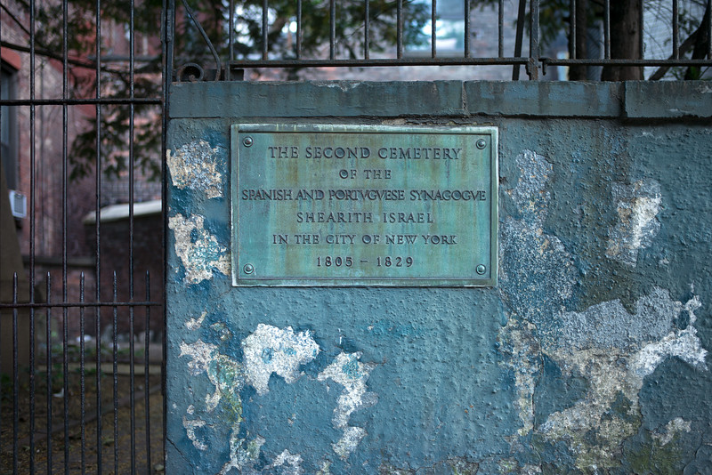 The Second Cemetary of the Spanish and Portuguese Synagogue Shearith Israel in the City of New York 1805-1829