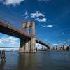 Brooklyn Bridge blue sky Brooklyn
