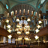 chandelier from the pulpit Eldredge Street Synagogue