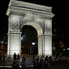 nighttime Washington Square arch