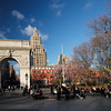 beautiful early spring day Washington Square
