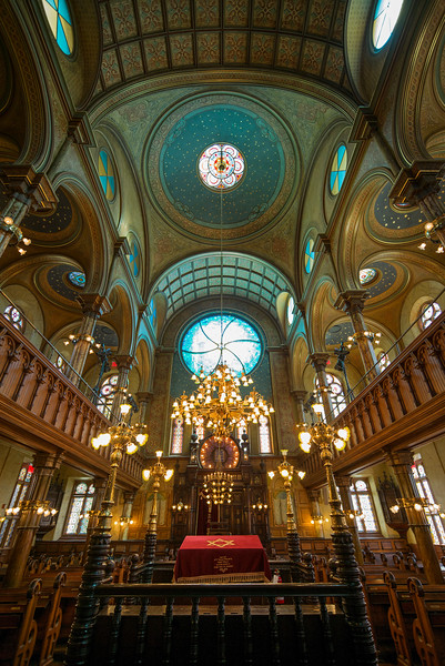 interior sanctuary Eldredge Street Synagogue