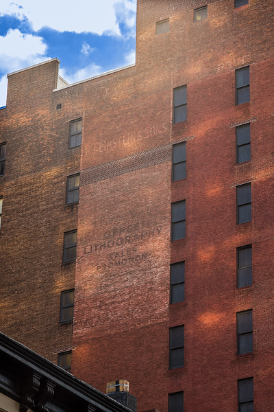 ghost sign Einstein & Sons Office Lithography Sales Promotion