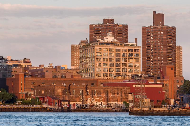 old factory Brooklyn with Pixote graffiti