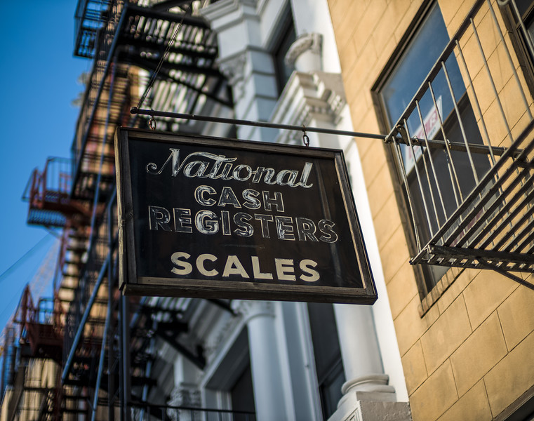 National Cash Registers Scales sign Lower East Side