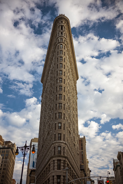 looking up at the Flatiron Building