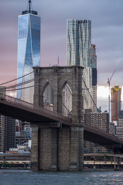 1 World Trade Center Brooklyn Bridge & New York by Gehry