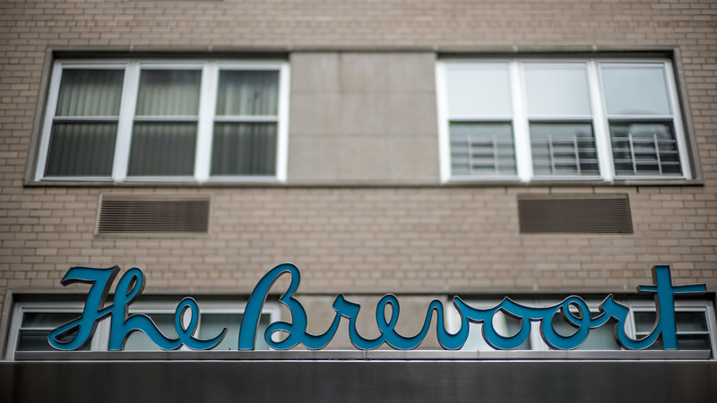 The Brevoort apartment sign Fifth Ave