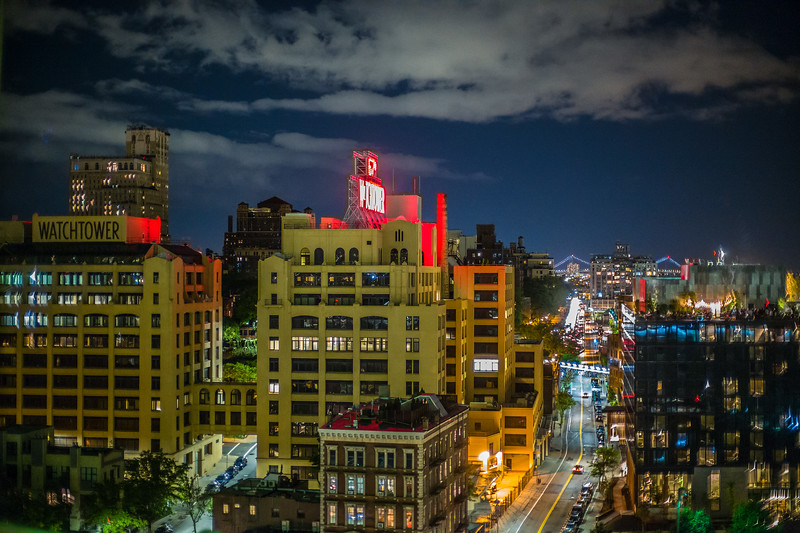 view of Brooklyn from Brooklyn Bridge at night 2