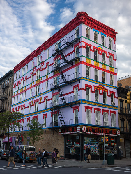 polychrome building Lower East Side