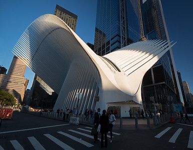Calatrava PATH station entrance