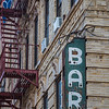old broken neon Bar sign Delancey St color