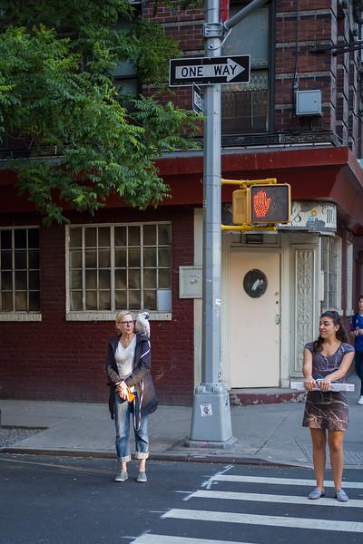 pedestrian wtih parrot Greenwich Village