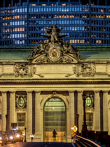 night view of Grand Central Terminal