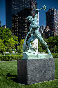 beating swords into plowshares UN sculpture garden
