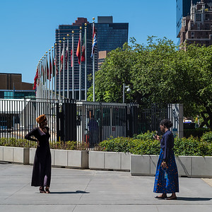 African woman posing for photo at UN