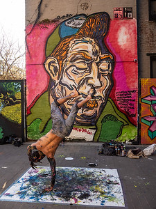 break dancer mural in memory of Jef Campion