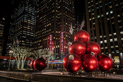 Christmas ornament sculpture & Radio City Music Hall