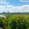 George Washington Bridge and the Palisades across the Hudson River