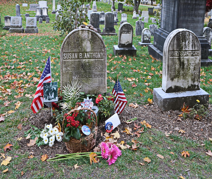 Susan B. Anthony's Grave on Election Day 2016
