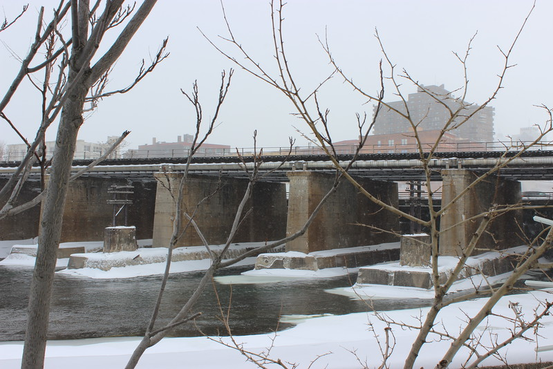 Rochester River View in Winter