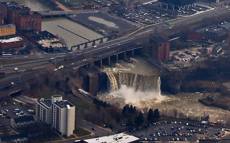 A Waterfall in Downtown Rochester