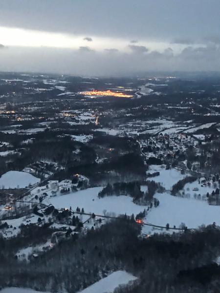 Rochester City Lights in Winter