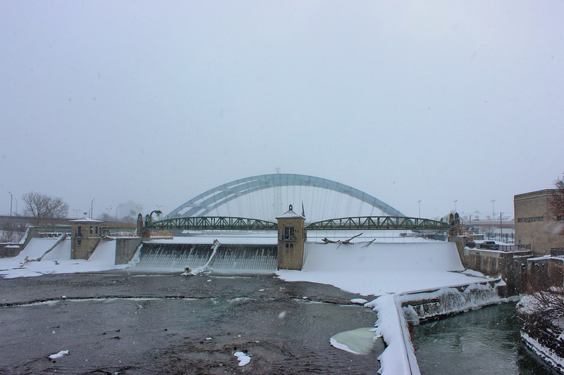 Frederick Douglass-Susan B. Anthony Memorial Bridge in Winter