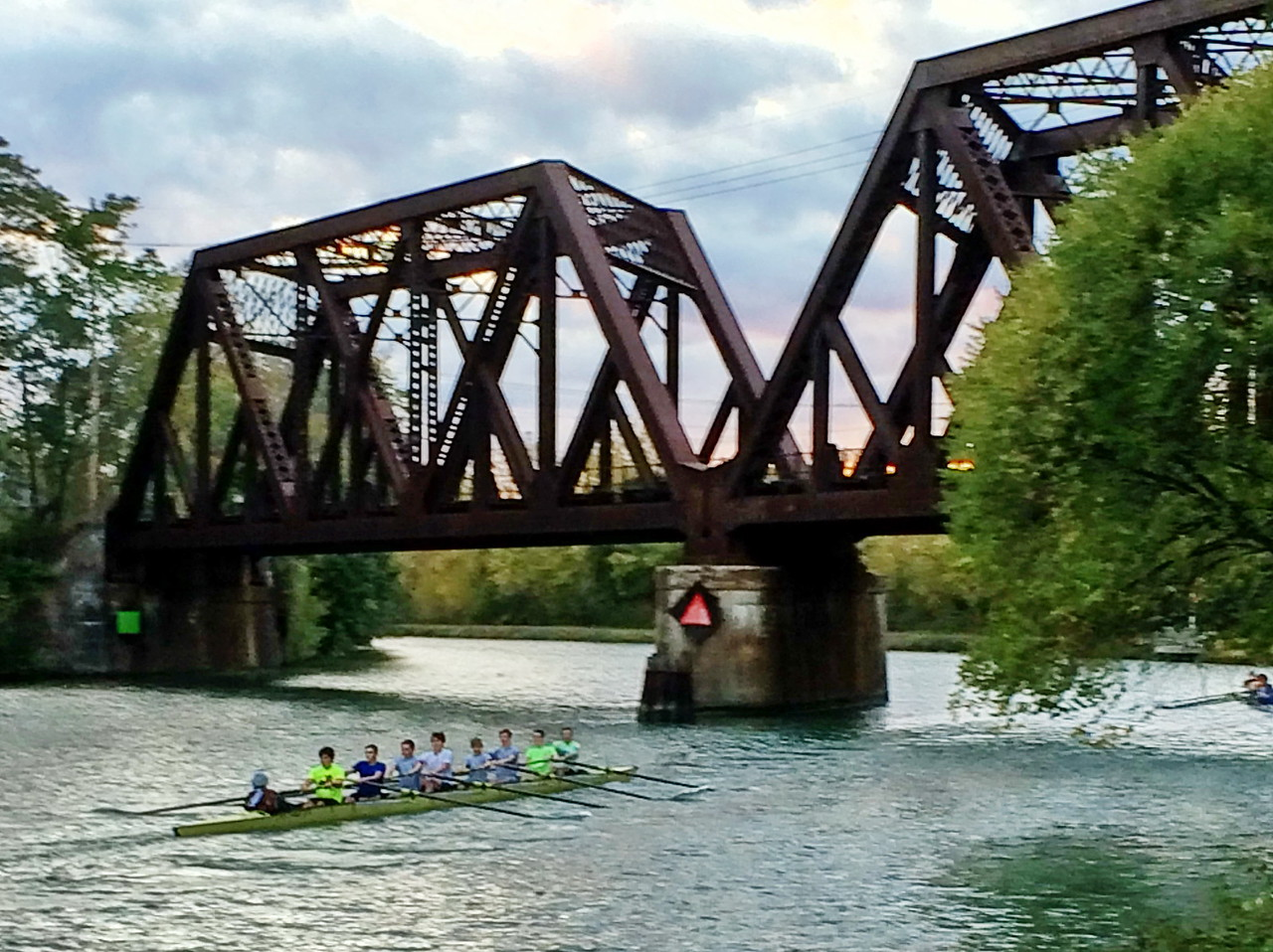 Rowing on the Erie Canal