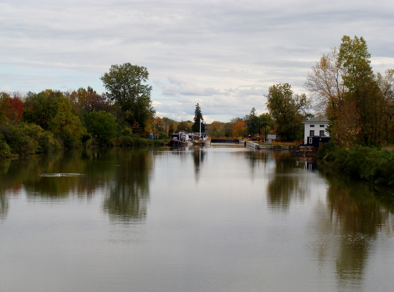 Lock 33 on the Erie Canal in Autumn