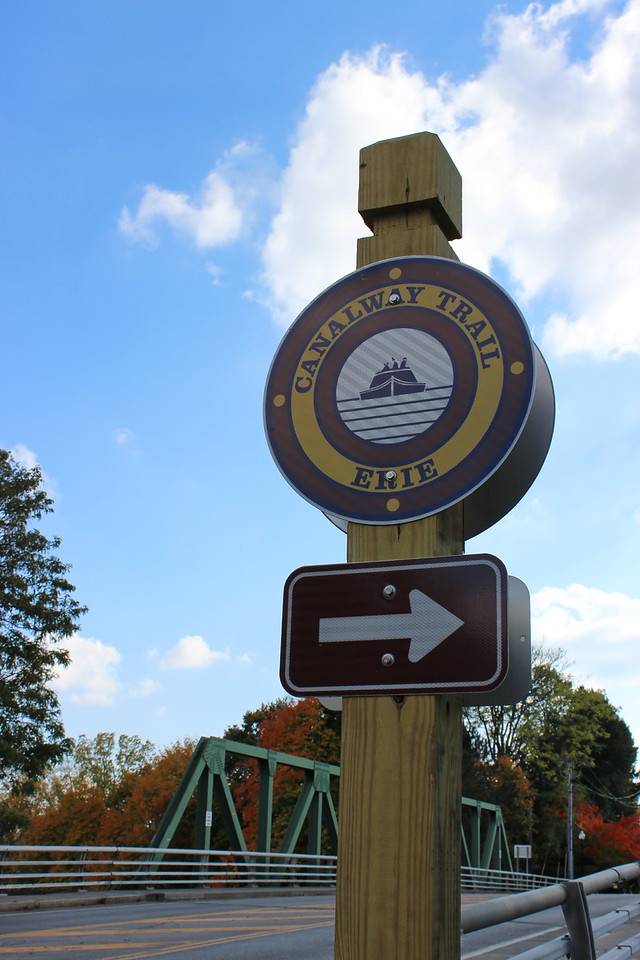 Bridge and Canalway Trail Sign