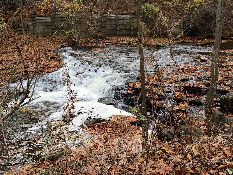 Allyns Creek and Waterfall in Autumn