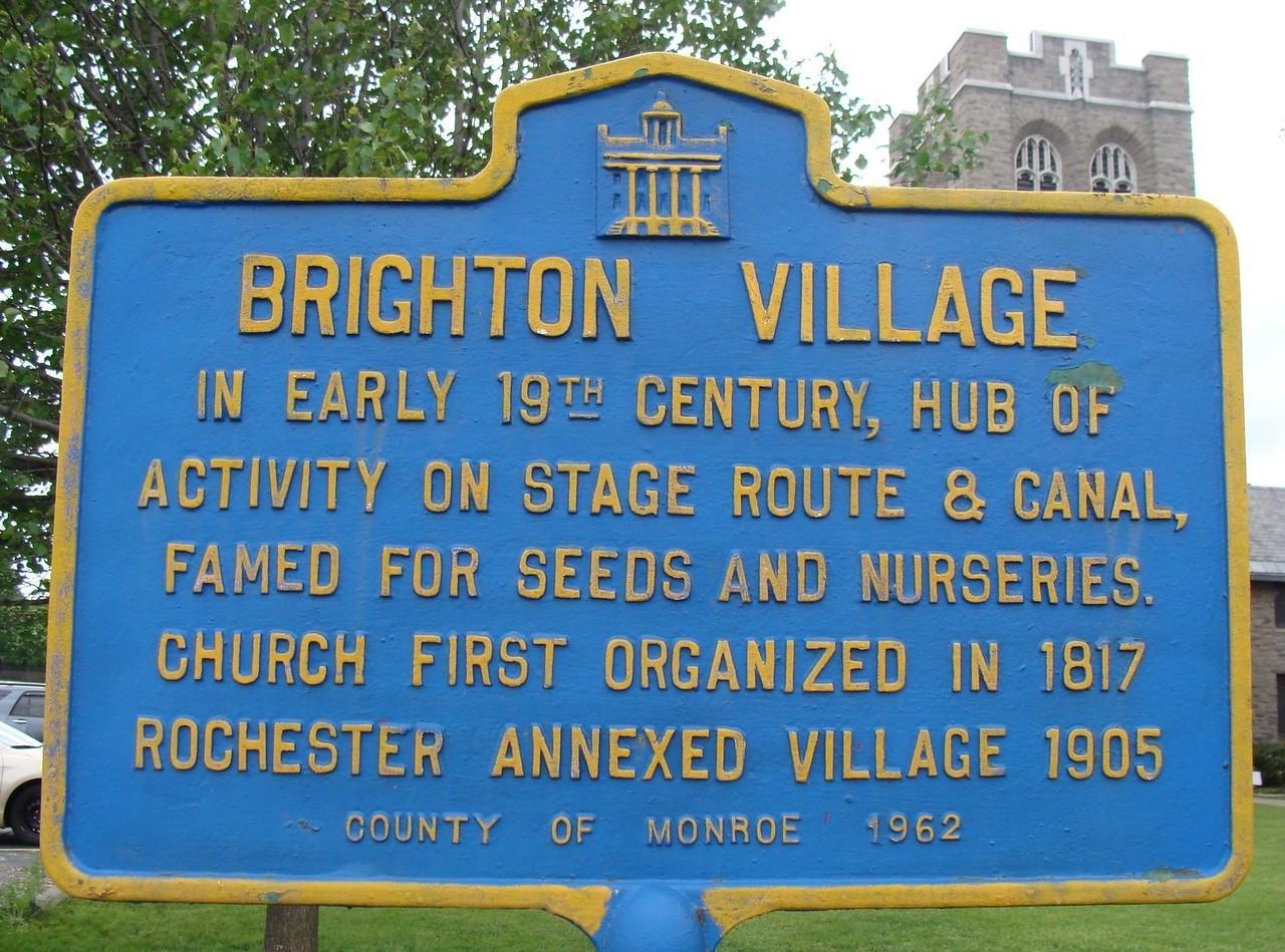 Brighton Village Historic Marker