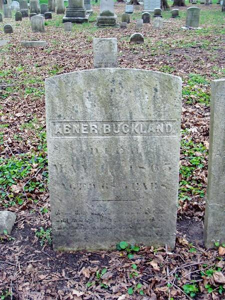 Abner Buckland Headstone