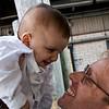 Martin Rauchbauer, Director of Deutsches Haus at NYU, and his 6 months old son