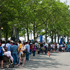 Standing in line for the ferry to Liberty Island - the wait was 1 1/2h