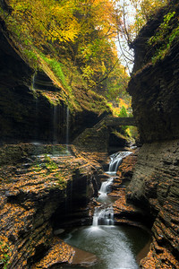Rainbow Falls at Watkins Glen State Park