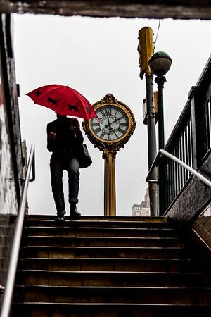 Rainy day in New York.