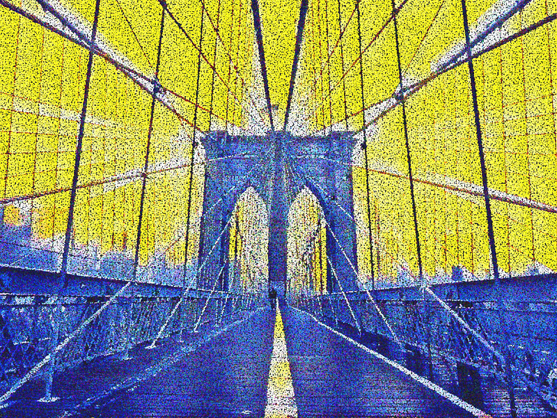 Georges Seurat Visits the Brooklyn Bridge. 2017.