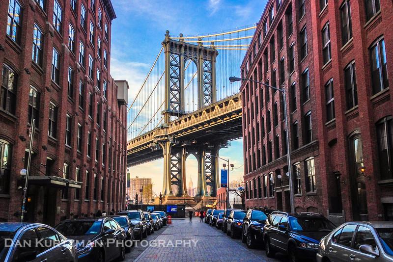 The Manhattan Bridge as seen from DUMBO, Brooklyn
