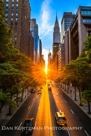 Sunset on 42nd Street, Manhattan